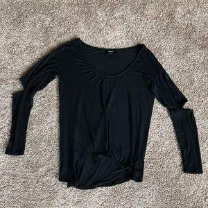 🍁 Nasty Gal | Black Long Sleeved Elbow Top